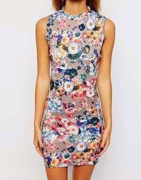 robe ASOS colorée à fleurs