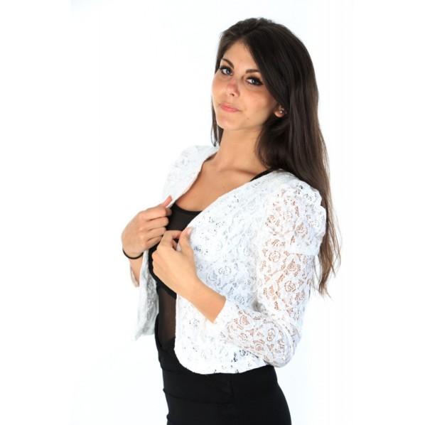 gilet-dentelle-couleur-blanc princesse boutique 16,99