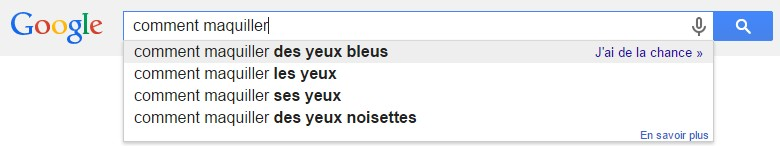 google comment maquiller