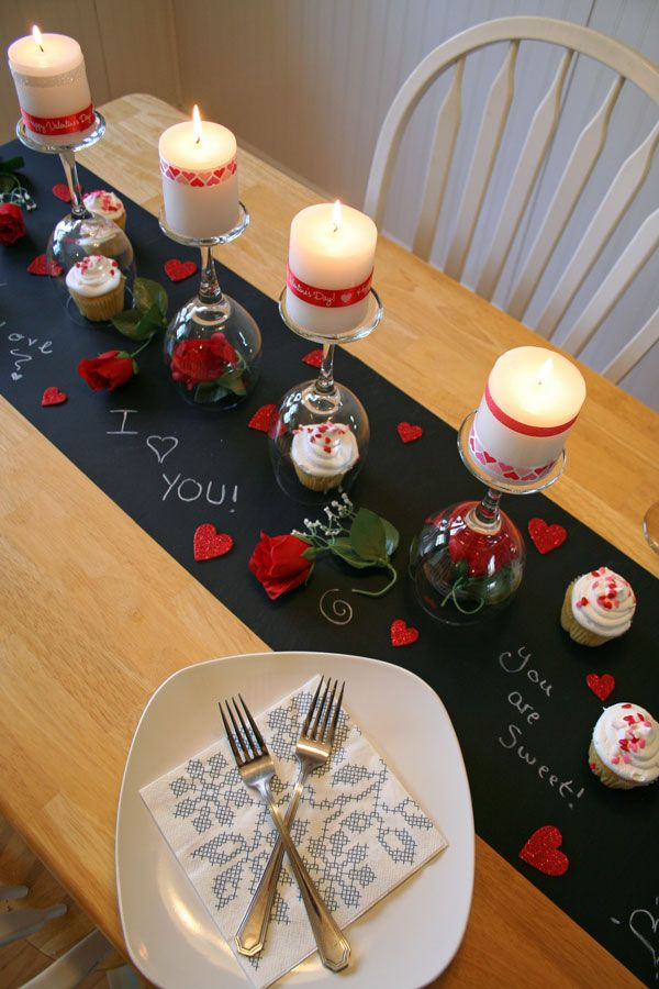 Saint valentin 8 id es de d corations de table beaute - Table de saint valentin ...