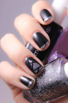 noir-argenté